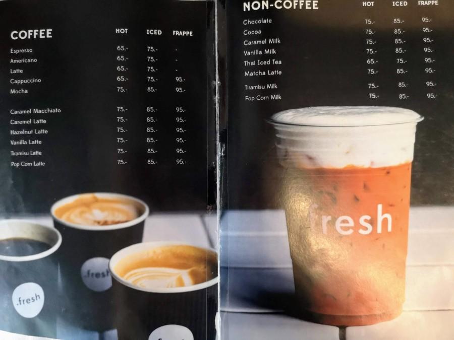 .fesh cafeのメニュー。安い!